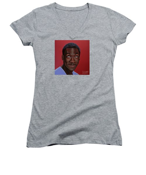 Eddie Murphy Painting Women's V-Neck T-Shirt