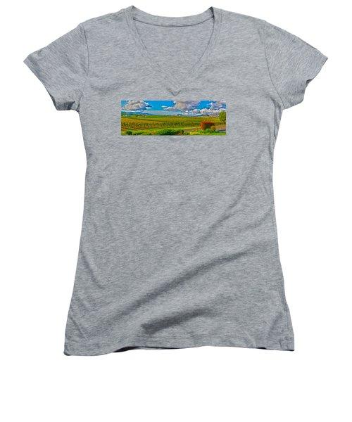 Edna Wineries Ca Women's V-Neck T-Shirt
