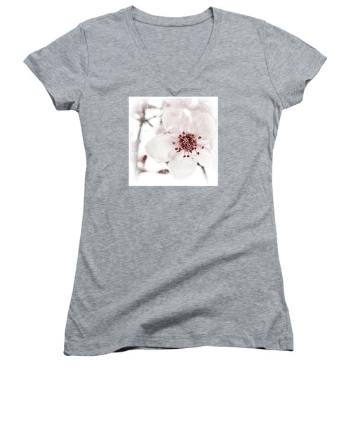 Women's V-Neck T-Shirt (Junior Cut) featuring the photograph Effervescent by Caitlyn  Grasso