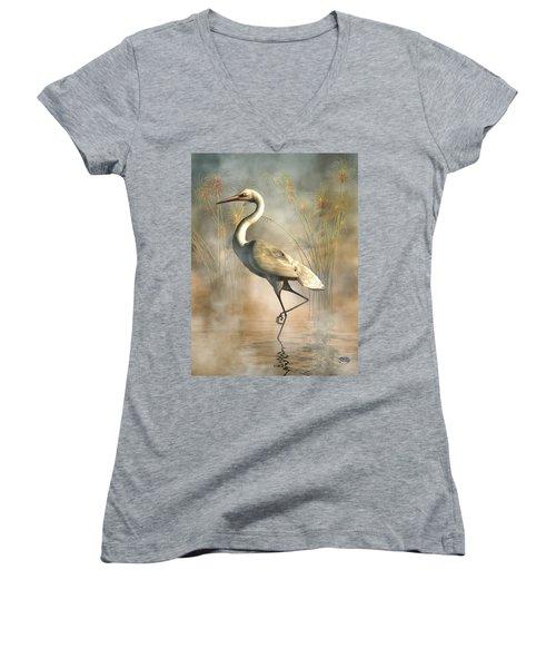 Egret Women's V-Neck (Athletic Fit)