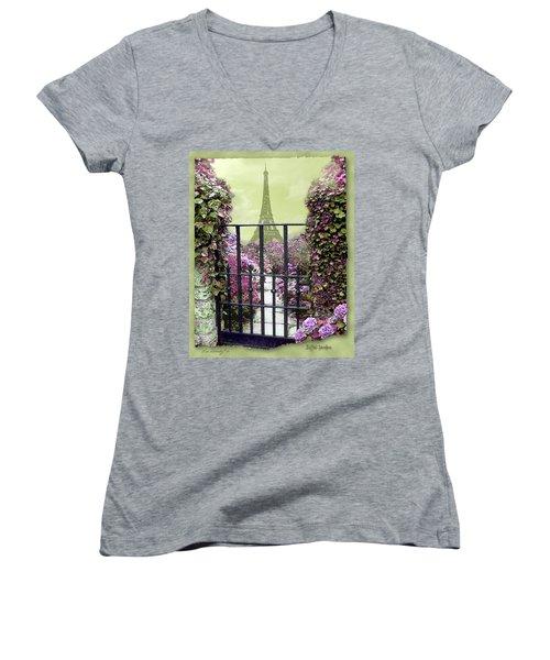 Eiffel Garden Women's V-Neck