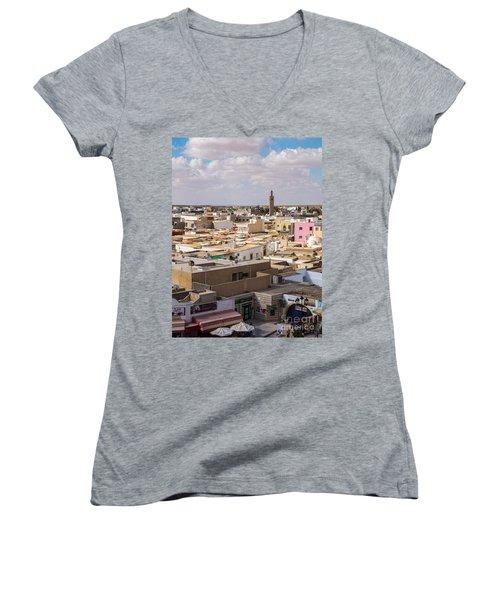 El Djem Women's V-Neck T-Shirt (Junior Cut) by Daniel Heine