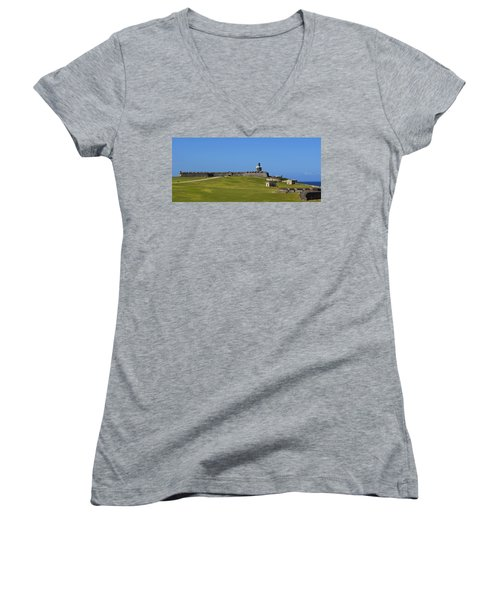 El Morro Panorama Women's V-Neck T-Shirt