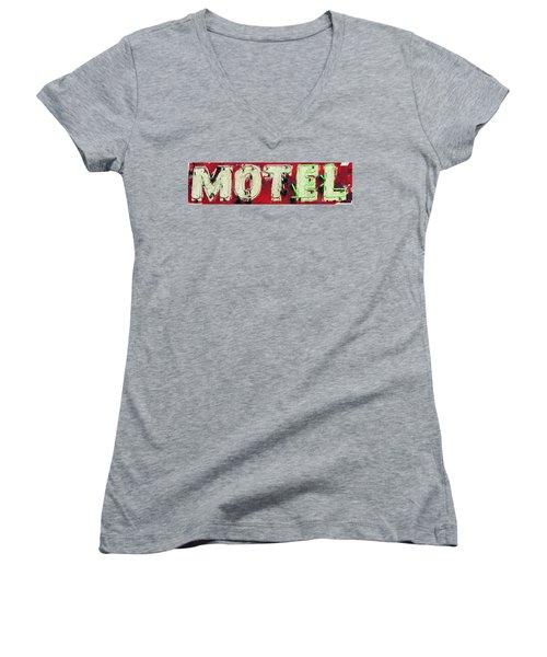 El Motel Women's V-Neck