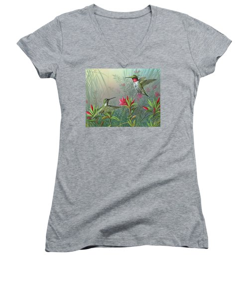 Elegance  Women's V-Neck T-Shirt (Junior Cut)