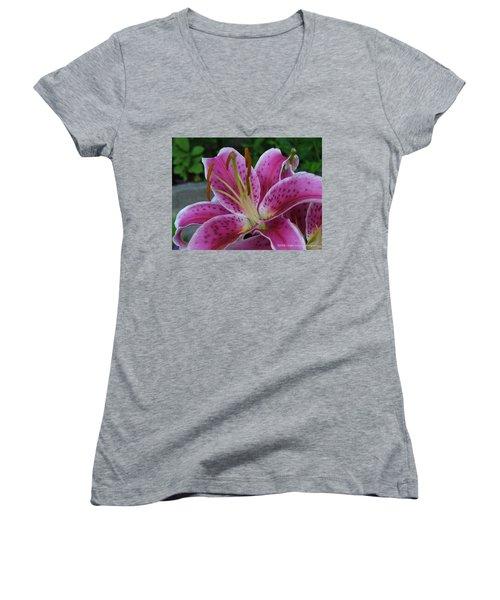 Women's V-Neck T-Shirt (Junior Cut) featuring the photograph Elegance by Lingfai Leung