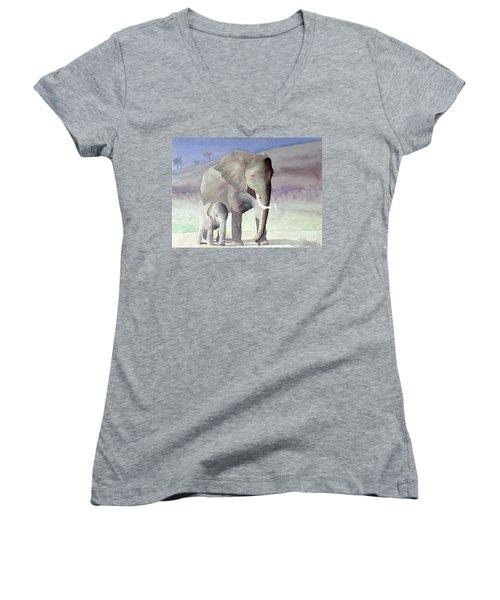 Elephant Family Women's V-Neck
