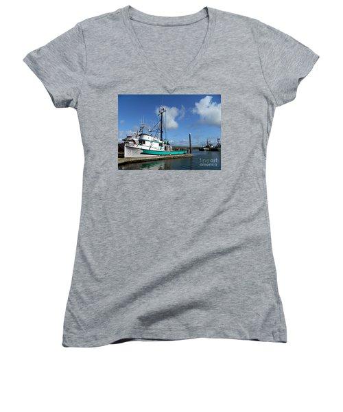 Ellie J 2 Women's V-Neck T-Shirt (Junior Cut)