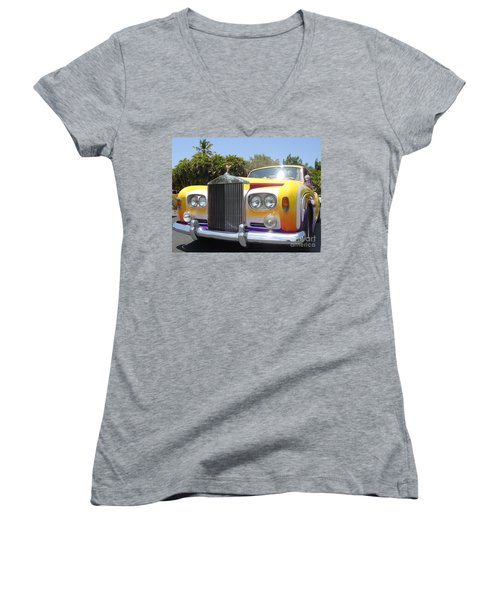 Elton John's Old Rolls Royce Women's V-Neck T-Shirt