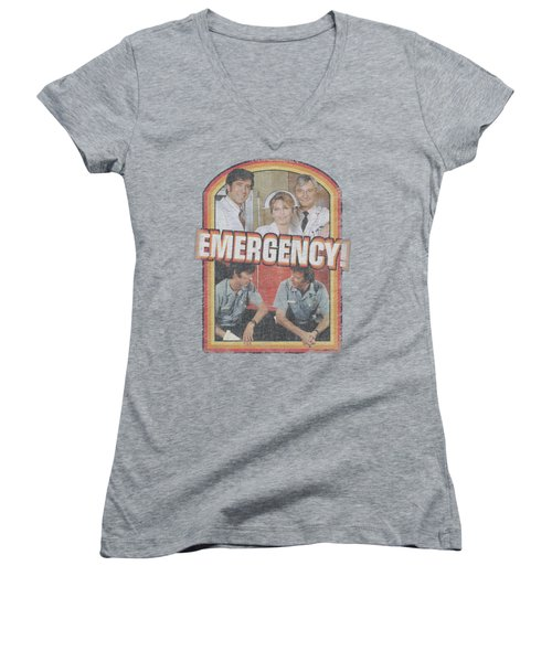 Emergency - Retro Cast Women's V-Neck T-Shirt