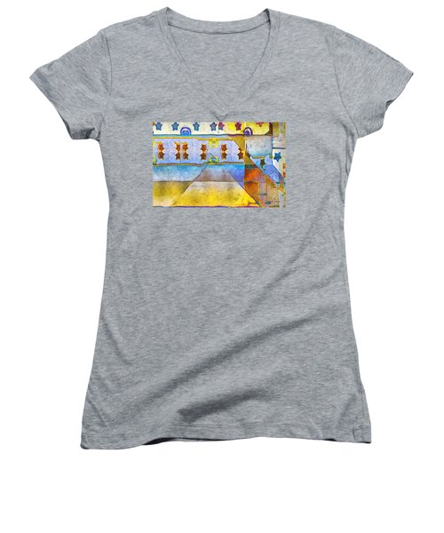 Empty Stage Women's V-Neck T-Shirt (Junior Cut) by RC deWinter