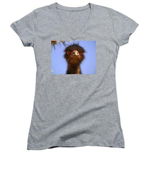 Emu Upfront Women's V-Neck T-Shirt (Junior Cut)