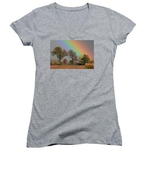End Of The Rainbow Women's V-Neck