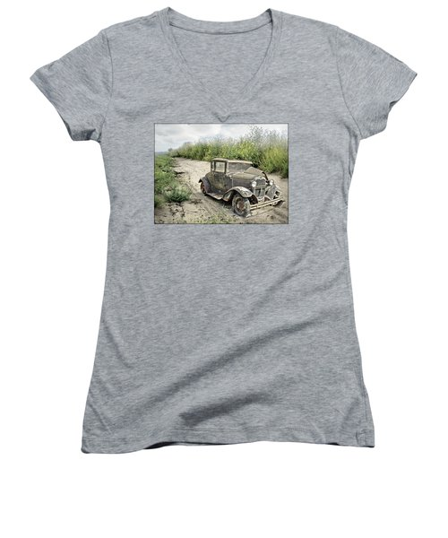 End Of The Road Women's V-Neck T-Shirt