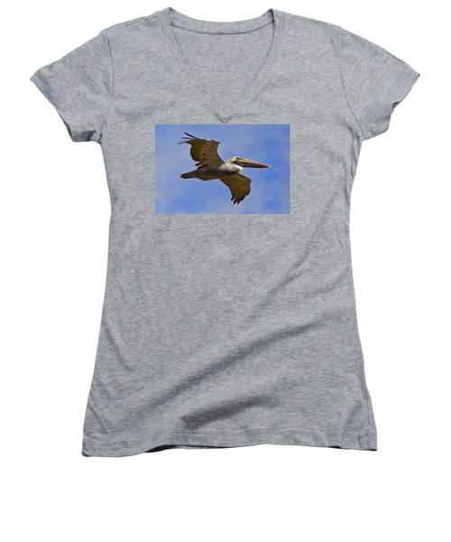 Women's V-Neck T-Shirt (Junior Cut) featuring the photograph Endangered No More by Gary Holmes