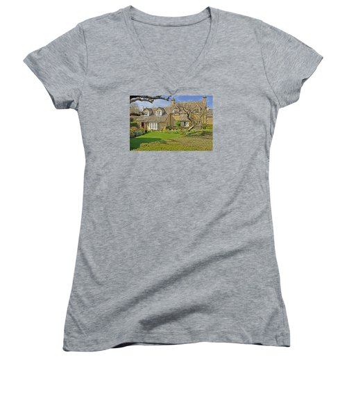 English Cottage Women's V-Neck T-Shirt