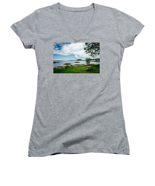 Women's V-Neck featuring the photograph Enjoy The View Collection 5 by Roxy Hurtubise