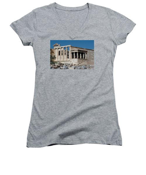 Erechtheion With The Porch Of Maidens Women's V-Neck (Athletic Fit)