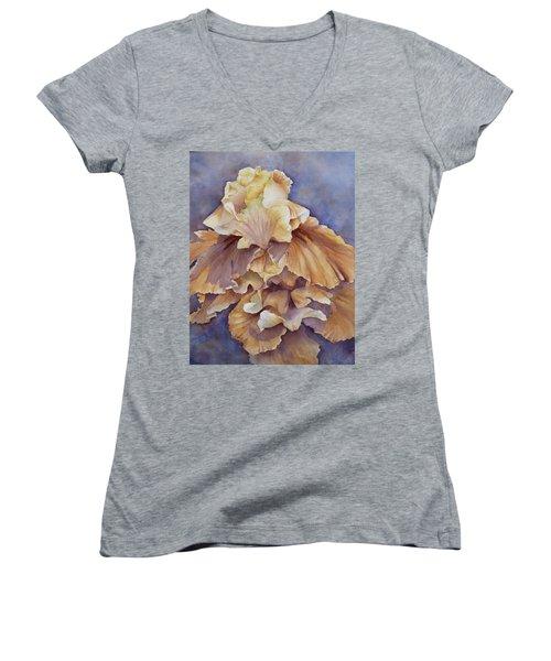 Eruption II--flower Of Rebirth Women's V-Neck T-Shirt
