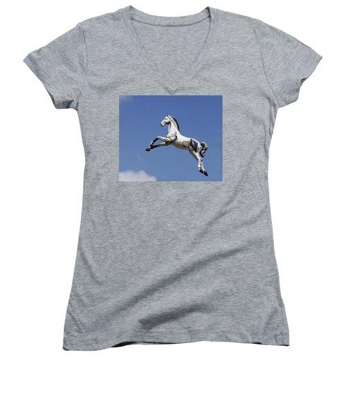 Escaped Carousel Horse Women's V-Neck T-Shirt