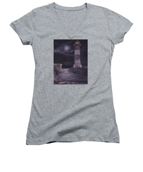 Evening At Point Lookout Women's V-Neck T-Shirt