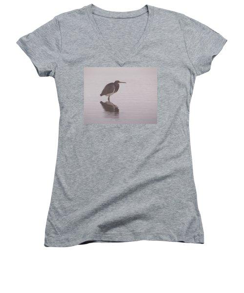 Evening Heron Women's V-Neck
