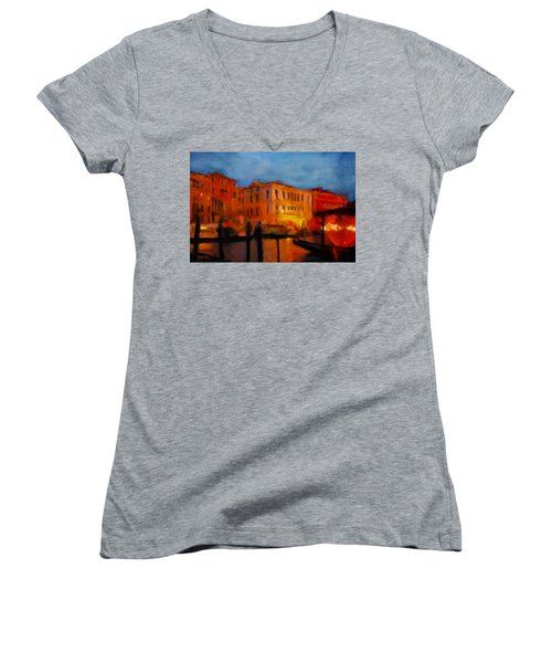 Evening In Venice Women's V-Neck