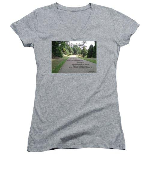 Evil Plan Failed Women's V-Neck T-Shirt