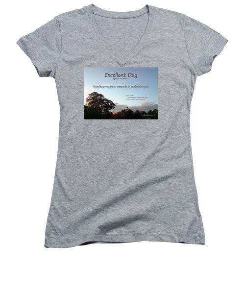 Excellent Day Women's V-Neck T-Shirt