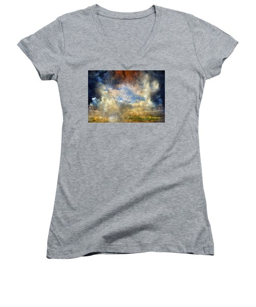Eye Of The Storm  - Abstract Realism Women's V-Neck