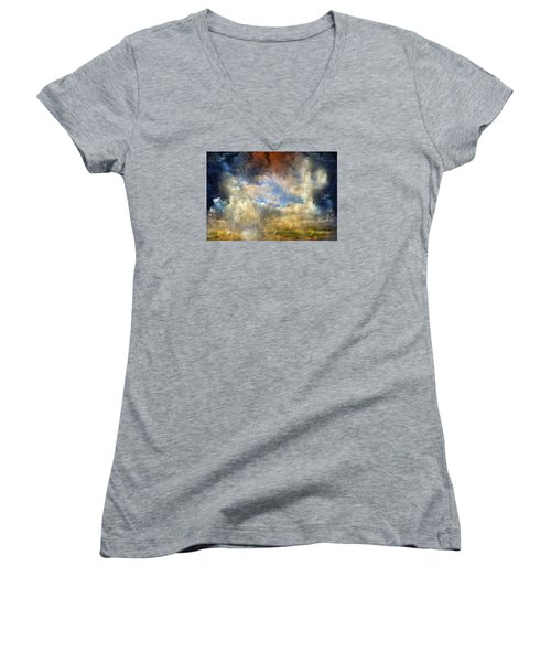 Eye Of The Storm  - Abstract Realism Women's V-Neck (Athletic Fit)