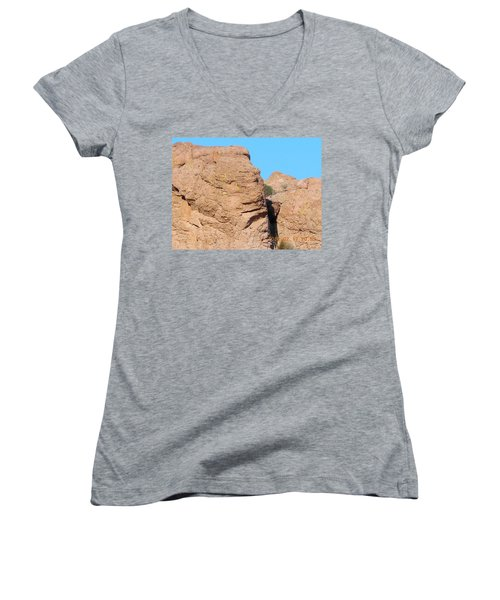 Face Of The Monolith Women's V-Neck T-Shirt