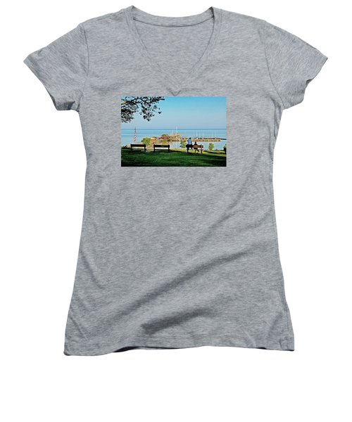 Fairhope Alabama Pier Women's V-Neck