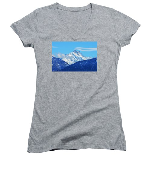 Fairy Tale In Alps Women's V-Neck (Athletic Fit)