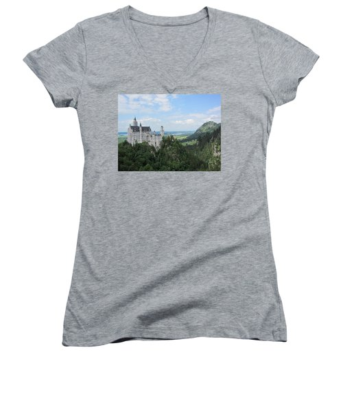 Fairytale Castle - 1 Women's V-Neck (Athletic Fit)