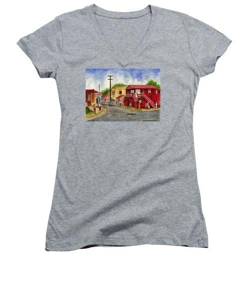 Fajardo Puerto Rico Women's V-Neck T-Shirt (Junior Cut) by Frank Hunter