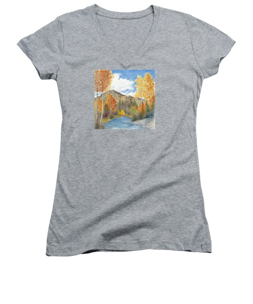 Fall Aspens Women's V-Neck