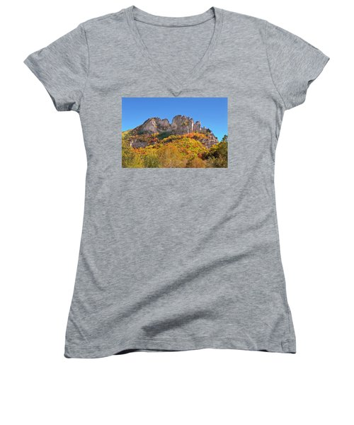Fall At Seneca Rocks Women's V-Neck