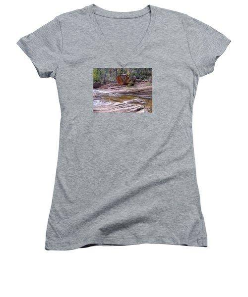 Fall Color 6419 Women's V-Neck T-Shirt (Junior Cut) by En-Chuen Soo