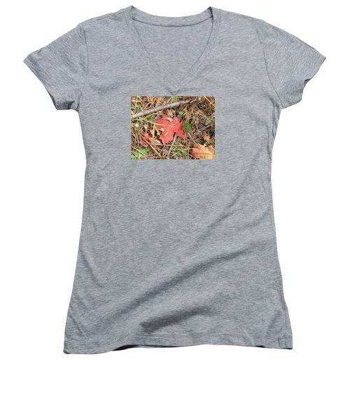 Fall Colors 6307 Women's V-Neck T-Shirt (Junior Cut) by En-Chuen Soo