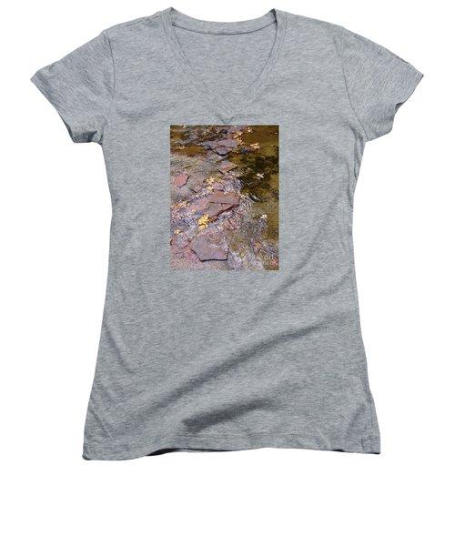 Fall Colors 6443 Women's V-Neck T-Shirt (Junior Cut) by En-Chuen Soo