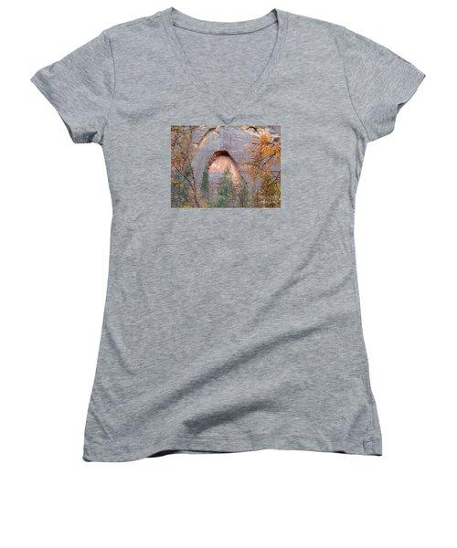 Fall Colors 6482 Women's V-Neck T-Shirt (Junior Cut) by En-Chuen Soo
