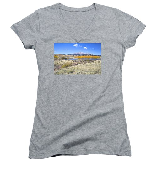 Fall Colors Fairplay Colorado Women's V-Neck (Athletic Fit)