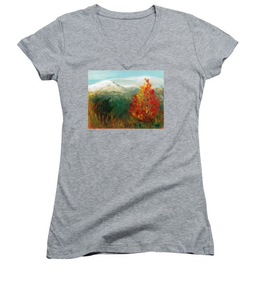 Fall Day Too Women's V-Neck T-Shirt (Junior Cut) by C Sitton