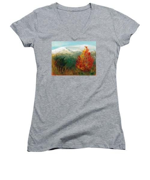 Fall Day Too Women's V-Neck T-Shirt