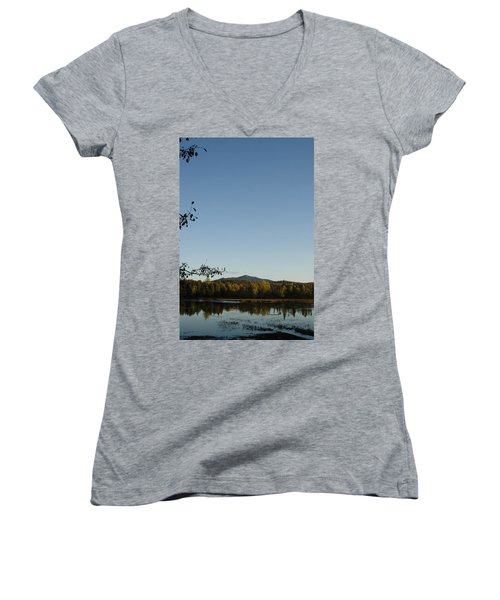 Fall In The Adirondacks Women's V-Neck (Athletic Fit)