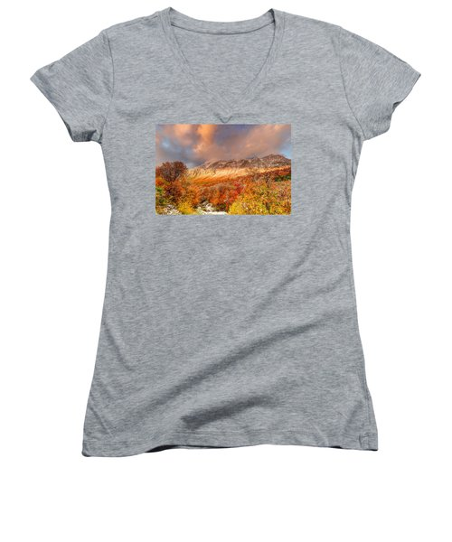 Fall On Display Women's V-Neck