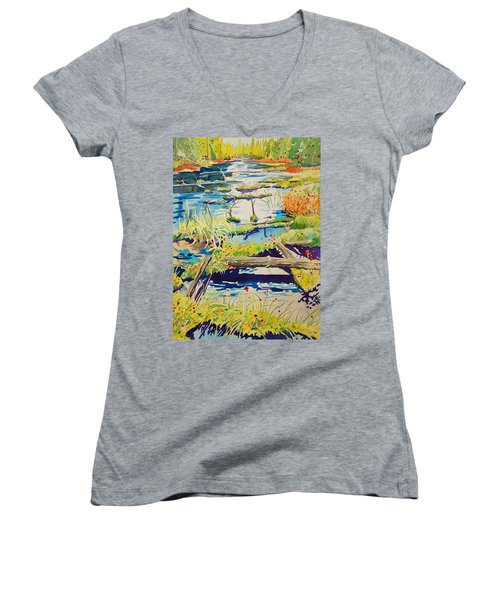 Fall River Scene Women's V-Neck