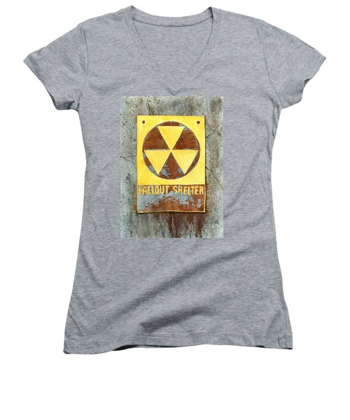 Fallout Shelter #2 Women's V-Neck (Athletic Fit)