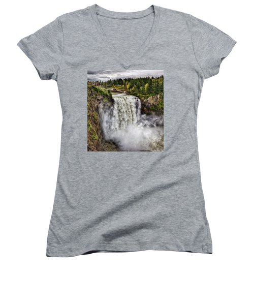 Falls In Love Women's V-Neck (Athletic Fit)